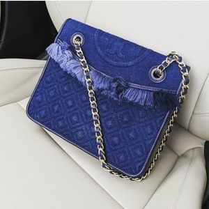 Tory Burch Medium Fleming Denim Bag
